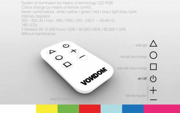 Vondom Stones Sofa remote kontrol