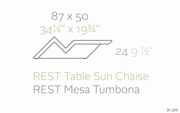 Vondom Rest Mesa Tumbona Beistelltisch Skizze