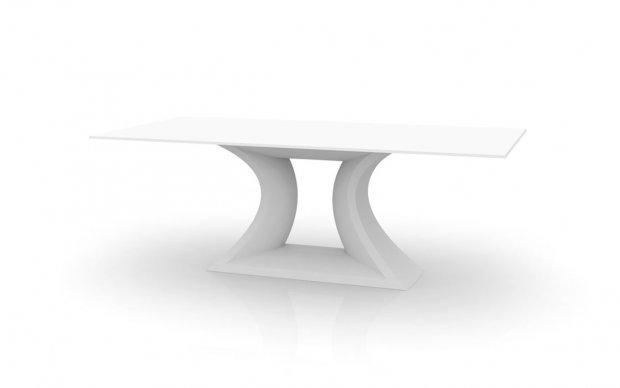 Rest Mesa Tisch weiss mit Glastischplatte Übersicht