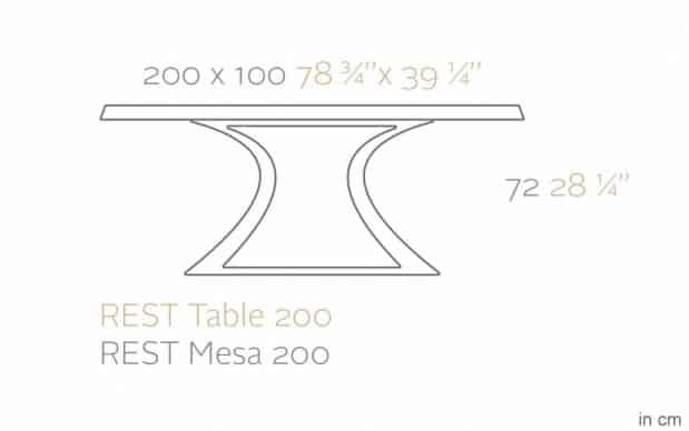 Rest Mesa Tisch Skizze