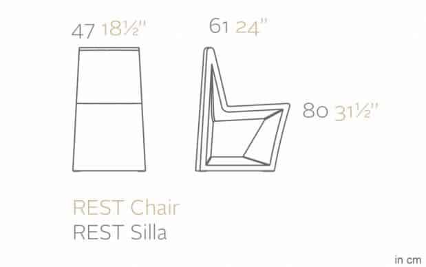 Vondom Rest Silla Stuhl Skizze