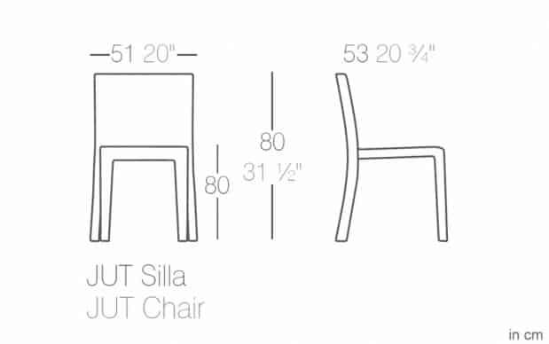 Vondom Jut Silla Stuhl skizze