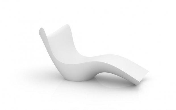 Vondom Surf Tumbona Liege in Weiß Übersicht
