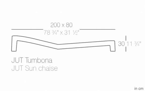 Vondom Jut Tumbona Sonnenliege skizze