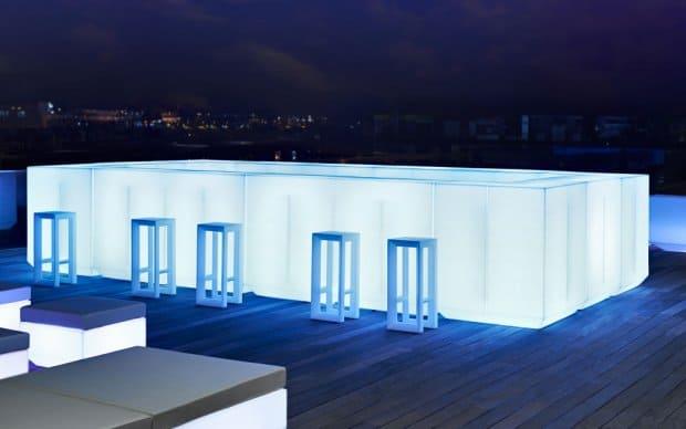 Vondom Vela Bar Theke alle Elemente LED