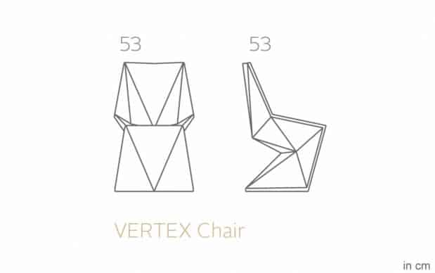 Vondom Vertex Silla Stuhl skizze