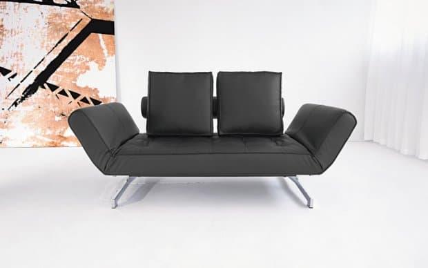 Innovation Sofa Ghia Schwarz mit Lehnen