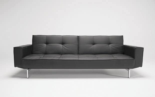 Innovation Sofa Splitback with Arms Schwarz Front