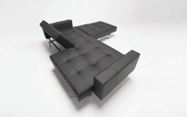 Innovation Sofa OZ schwarz von oben