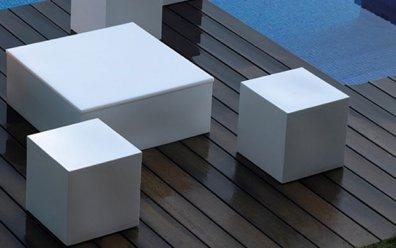 Quadrat Puf Hocker 40x40 cm