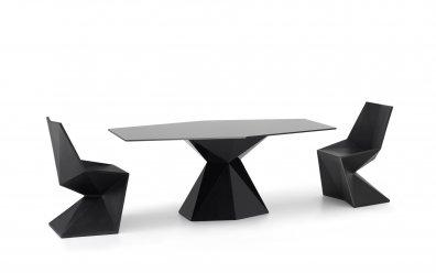 Vondom Vertex Mesa Tisch  schwarz hochglanz