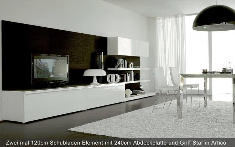 Lowboard weiß hochglanz 3m  Designer Lowboards online kaufen online kaufen » wohnstation