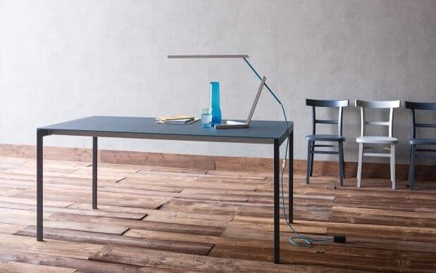 Sedit Tisch Oscar Glas matt grau Übersicht