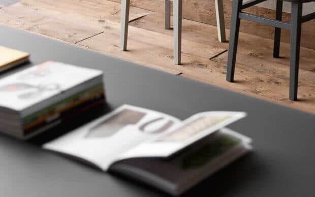 Sedit Tisch Oscar Glas Nahaufnahme Tischplatte
