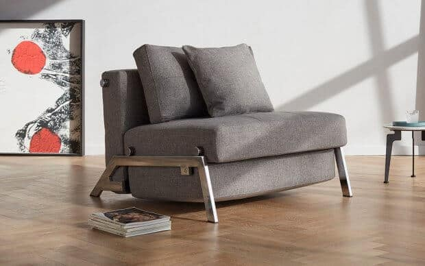 Innovation Schlafsofa Cubed  90 Chrom